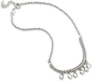 25 cm in argento Sterling 925 SilberDream SDF5195J Cavigliera da donna