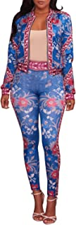2 Piece Outfits for Women Pants Tracksuit Sets Floral...