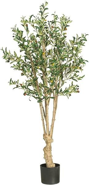 近天然 5258 橄榄色丝绸树 5 英尺绿色