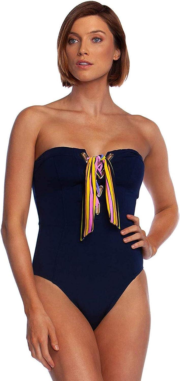 Trina Turk Women's Bandeau One Piece Swimsuit