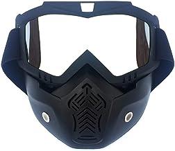 QSCTYG Afneembare motorbril, bril, mondfilter, open gezicht, motorhelm, vintage helm, bril voor motorbril 266