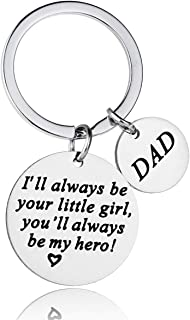 AMRIU Father's Day Keychain - Dad Gift from Daughter for Birthday,Best Dad Ever Keychain, Stainless Steel Key Chain, Gifts for Dad Grandpa Fathers Day Birthday Christmas Day from Daughter Son