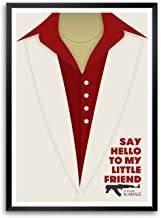 LAB NO 4 Say Hello to My Little Friend Al Pacino Scarface Movie Dialogue Framed Poster In A3 Size