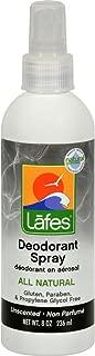 Lafe's Natural and Organic Deodorant Spray with Aloe Vera Lafe's Natural Bodycare 8 oz Spray