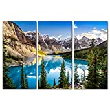 Colorado Wall Art 3 Pieces Snow Mountain and Lake National Park Landscape Modern Artwork Painting Print On Canvas Framed Picture for Living Room Home Decoration