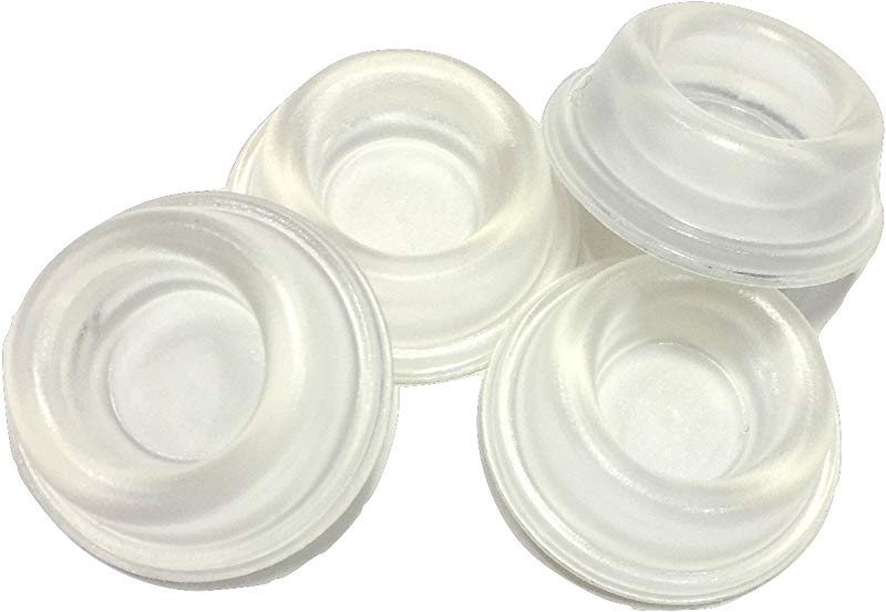 Rubber Door Stopper Bumpers Pack Of 4 Clear Made In USA Self Adhesive Wall Protectors Prevent Damage To Walls From Door Knobs Handles Guard And Shield