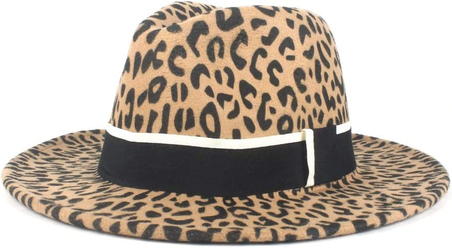 LIRRUI Jazz Street Hat Men's Women's Wool Polyester Fedora Hat Simple Retro Casual Hat Winter (Color : Khaki, Size : 56-58cm)