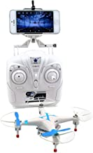 sea jump Cheerson CX-30W 2.4GHz 4CH 6-Axis Gyro 360-degree Eversion WiFi Real Time Video RC Quadcopter UFO FPV with Transmitter /0.3MP HD Camera /LED Lights (Blue)