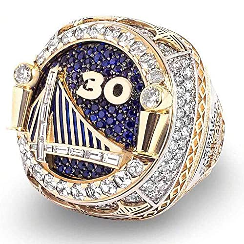BFDMY 2018 Warriors Championship Ring Curry Championship Anillo de la NBA Curry Durant - Diámetro 20,5 mm Circunferencia 64,6 mm