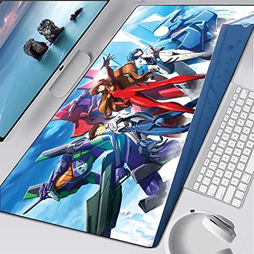Alfombrilla de ratón Anime 600x300mm -con Costuras de Borde, ratón de Anime Grandes para Juegos, Alfombrilla para Teclado XXL, Alfombrilla para Escritorio para PC
