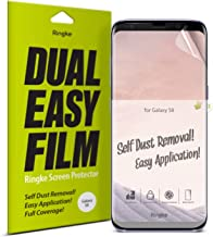 Ringke Dual Easy Film (2 Pack) Compatible with Galaxy S8 High Resolution Anti-Smudge Coating Easy Application Case Friendly Screen Protector for Galaxy S 8