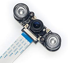 VehiGo Raspberry Pi Camera Module, 130° Wide Angle 5MP 1080p OV5647 Infrared Night Vision Camera for Raspberry Pi 3 Model B/B+