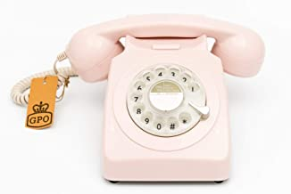 $58 » GPO 746 Rotary 1970s-style Retro Landline Phone - Curly Cord, Authentic Bell Ring
