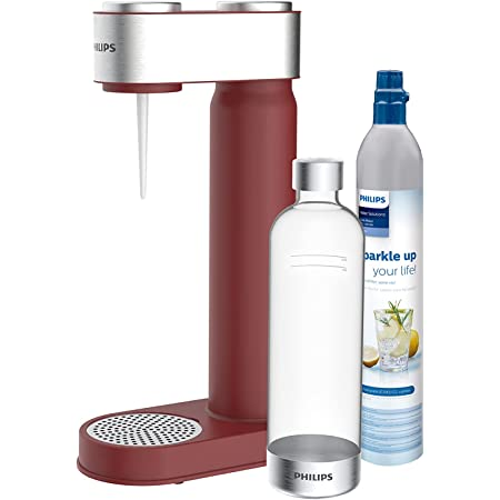 Philips GoZero ADD4902RD/10 Machine à Soda, Sans BPA, 1 l, rouge