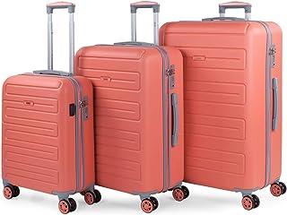 SKPAT - Set de 3 valises de Voyage 4 Roues en ABS. Port USB dans la Petite. Pratiques Confortables et Légères Petite, Moye...