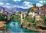 Jxxyoot Puzzles -1000 Piezas-Puente Viejo en Mostar Bosnia y Herzegovina