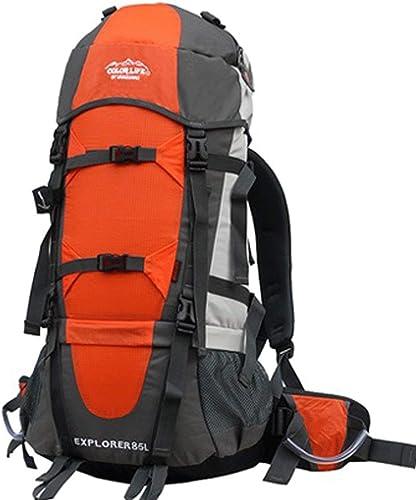 WANGXL Sac à Dos De Voyage 80l, avec Sac De Pluie, Sac à Dos, Sac à Dos, pour Homme, Léger Sac à Dos étanche Imperméable à l'eau De Plein Air Alpinisme,Orange