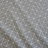 Stoff Meterware Baumwolle Origami Grafik grau weiß Linien