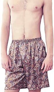Fulision 男性の印刷用ショートパンツレジャーゆったりした伸縮性弾性ウエストパジャマボトムス