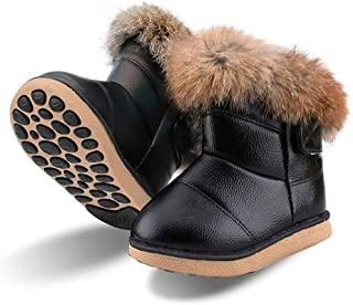 Botas de Nieve para Niños Niña Invierno Calentar Botines Impermeable PU Algodón Niños Botas Anti-Deslizante Zapatos para Bebé