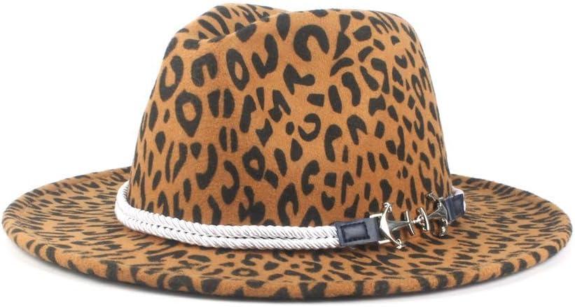 No-branded Wide Brim Fedora Men Women Vintage Jazz Hats Fashion Stars Wool Felt Hat Unisex Red Felt Bowler Cap Spring ZRZZUS (Color : Dark Khaki, Size : 56-58cm)