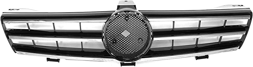 Oneuda Front Grill W219 3 Fins Car Front Upper Bumper Grille Grill For Mercedes For Benz W219 CLS500 SLS600 CLS Class 2005-2008