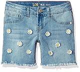 Lee Girls' Little Midi Short, Blue Surf, 5