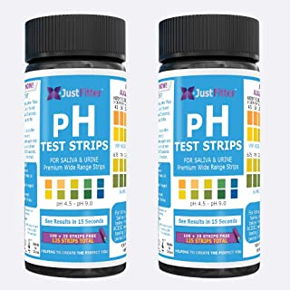pH Test Strips (2 Bottles). Test Alkaline and Acid Levels in The Body. Track & Monitor Your pH Level Using Saliva and Urin...