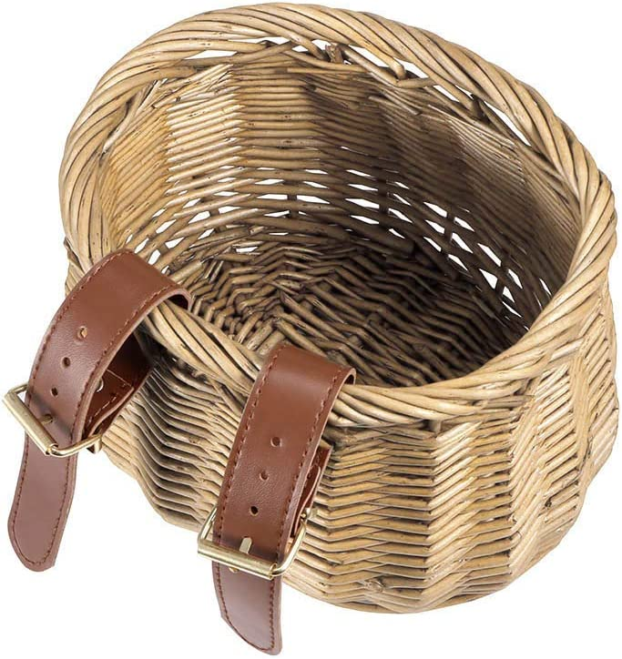 SOOTOP Wicker Bicycle Basket Handlebar Fish Basket Front Storage Basket Childrens Bicycle Basket for Kids Gift Travel Outdoor