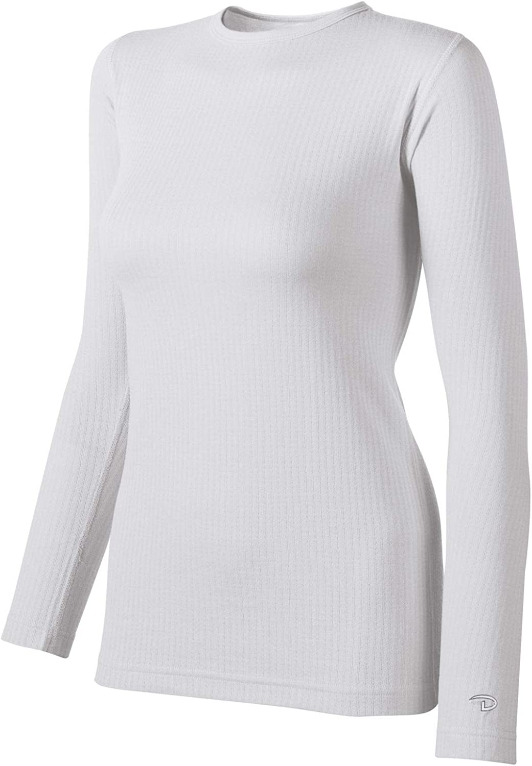 Duofold Women's Mid Weight Wicking Thermal Shirt, White, X-Small