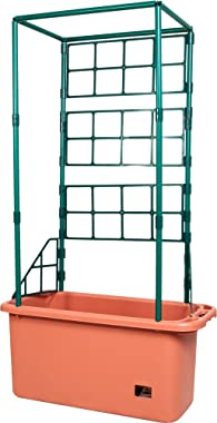Hydrofarm GCTR Tomato Trellis Garden on Wheels Tree Tower, Green