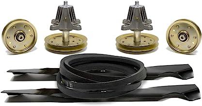 "Lawn Mower 46"" Deck Rebuild Kit Spindles Blades Belt & Pulleys Compatible with Cub Cadet LTX1045, LTX1046, LTX1046VT / Tro..."