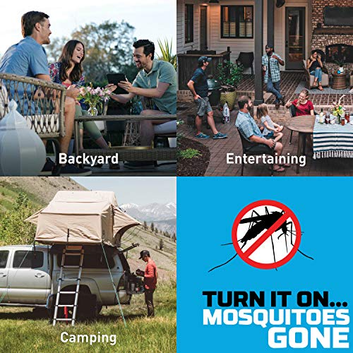 Thermacell E55 Rechargeable Mosquito Repeller; Highly Effective Rechargeable Mosquito Repellent, Black