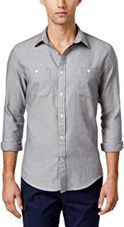 Mens Herringbone Button Up Shirt