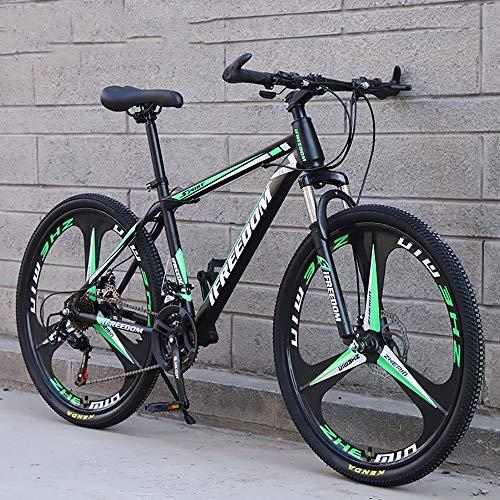 XQY Mountain Bike 27.5 Inch Off-Road Vehicle High-Carbon Steel 27-Speed Gear Double Disc Brake Off-Road Bike,Green