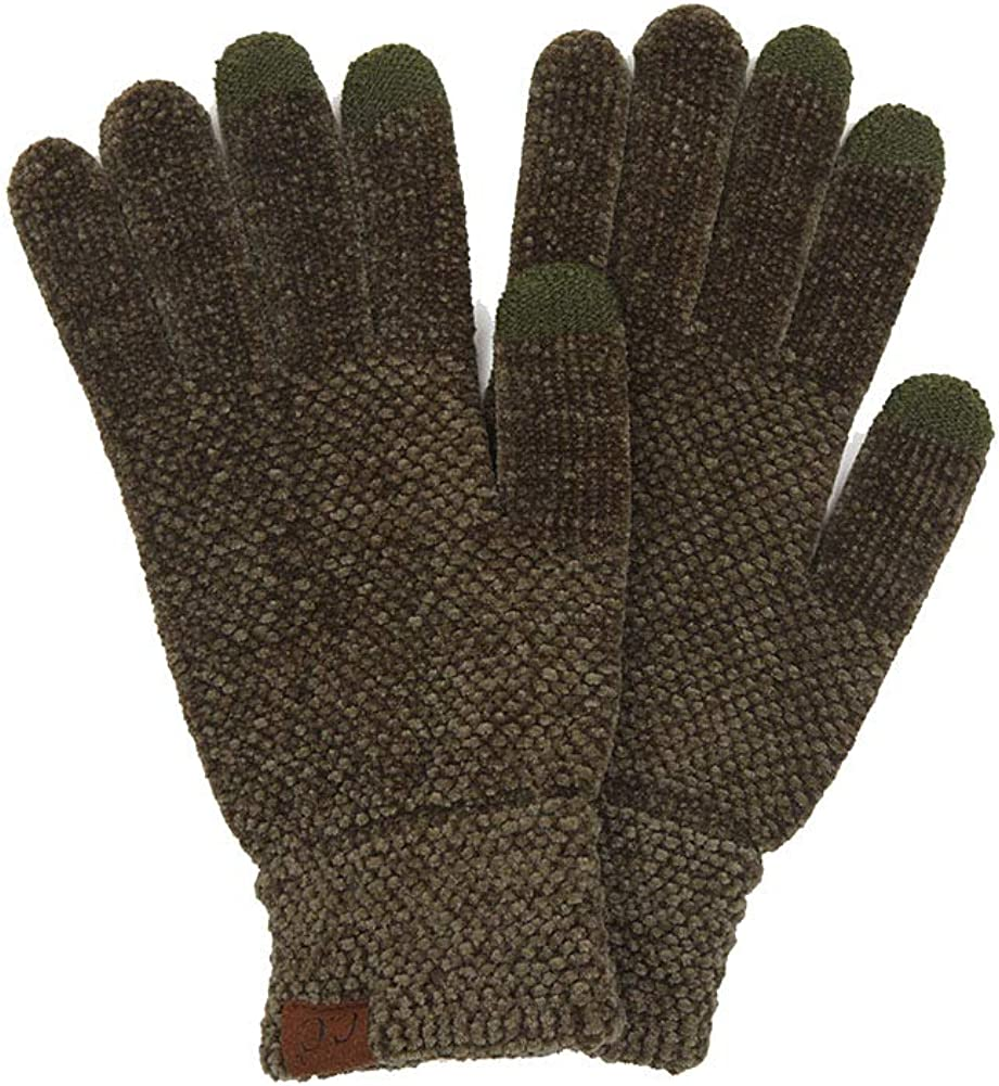 ScarvesMe Women's Eco Friendly Touch Screen Knit Winter Warm Solid Color Soft Gloves