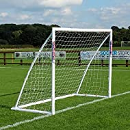 THE ORIGINAL PORTABLE FOOTBALL GOAL POSTS - Thicker corner parts make Samba goals much stronger than others. Made in the UK from Weatherproof High Impact 68mm diameter Heavy Duty uPVC. These Samba Goal Posts will withstand the hardest of shots. **NEW...