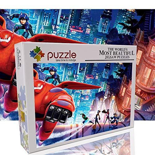 Puzzles Puzzles de 1000 Piezas para Adultos Big Hero 6 Rompecabezas de descompresión Juguete de Entretenimiento Familiar (70x50cm/27.6'x19.7) - Película Animada en 3D
