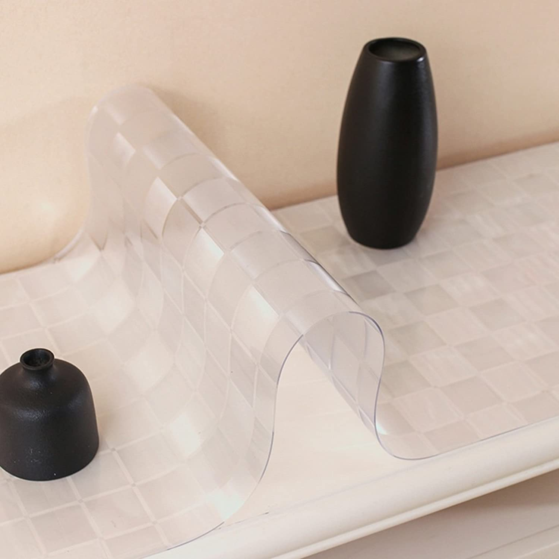 la mejor selección de MEIE QIG Mantel plástico, plástico, plástico, gabinete Transparente de la TV Mantel Helado Impresión Impermeable a Prueba de Calor Mantel Creativo Longitud 120-200CM (Color   C, Tamaño   50180CM)  de moda