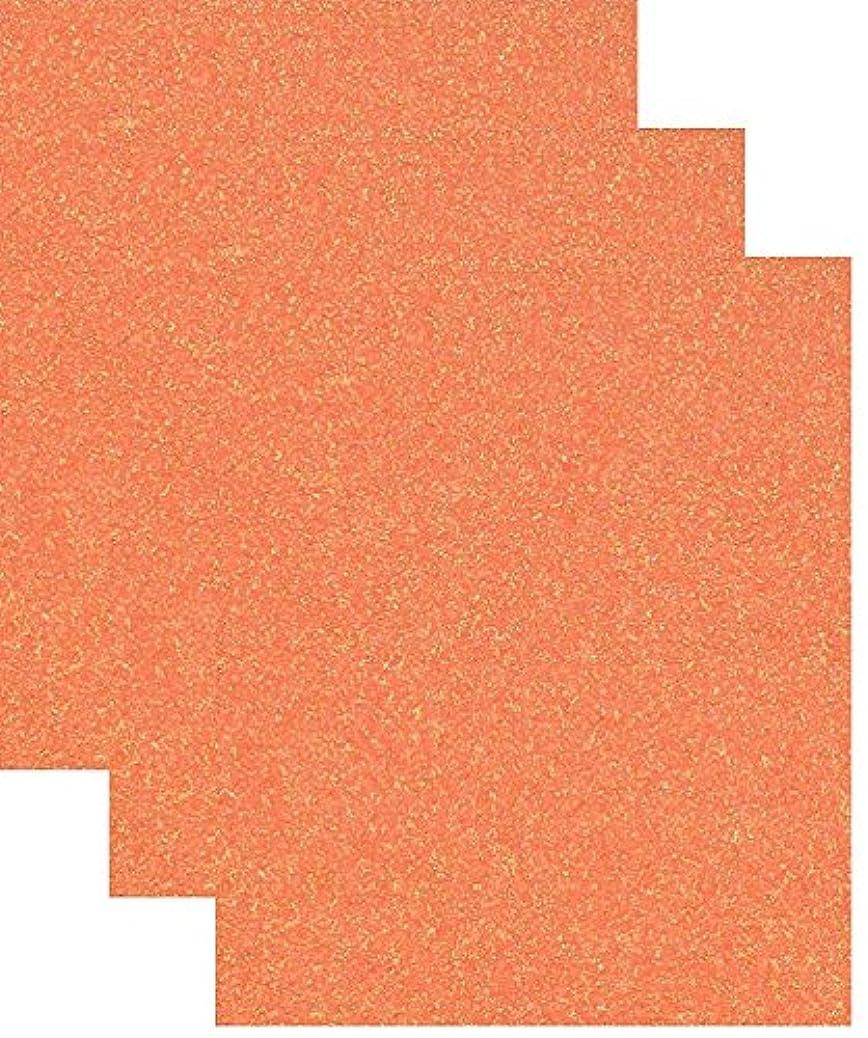 Siser Glitter Heat Transfer Vinyl HTV for T-Shirts 10 by 12 Inches (1 Foot) 3 Precut Sheets (Translucent Orange) kgrlzltbkg