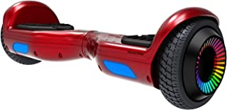 Swagboard Twist Remix Lithium-Free Kids Hoverboard with LED Wheel Lights, Red