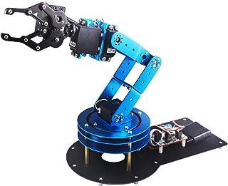 کیت بازوی روبوتیکی LewanSoul 6DOF Full Metal برای آردوینو | STEAM Robot Arm Kit با نرم افزار PC Handle و کنترل برنامه ها | با آموزش از طریق لینک