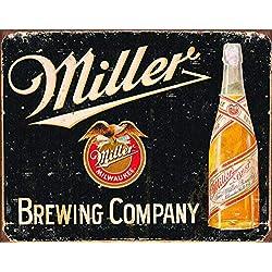 Desperate Enterprises Miller Brewing Company Vintage Tin Sign, 16 W x 12.5 H