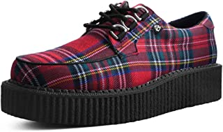T.U.K. Shoes T2264 Unisex-Adult Creepers, Red Tartan Anarchic Creeper