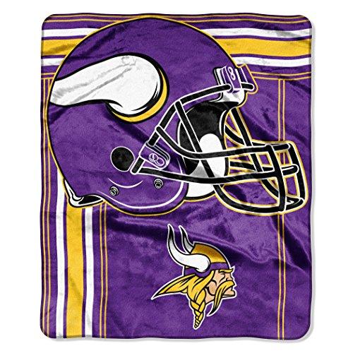 The Northwest Company NFL unisex-adult Touchback Blanket 50' x 60', Team Color, Minnesota Vikings