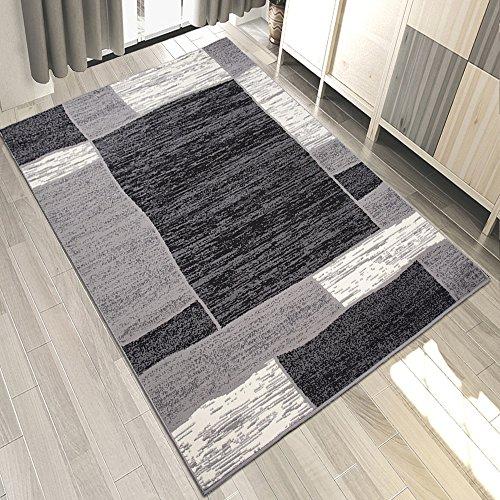 Carpeto Teppich Modern Geometrische Muster Trend Meliert in Grau, Schwarz - ÖKO TEX (250 x 300 cm)