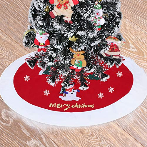 36 Inch Christmas Tree Skirt with Burlap & Decorations Now $5.99