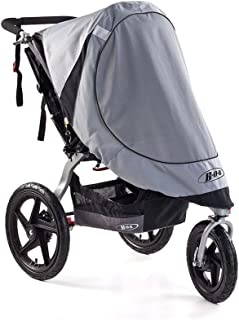 BOB Sun Shield for Single Swivel Wheel Strollers, Grey