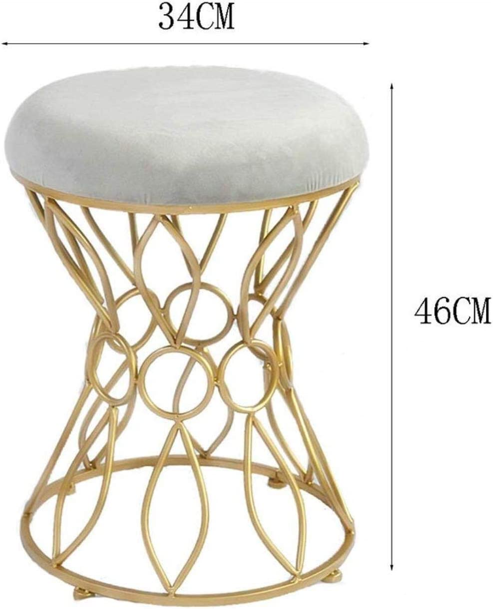Stable Simple et chaise de maquillage moderne coiffeuse tabouret fer tabouret princesse chaise coiffeuse manucure Durable (Color : D) A