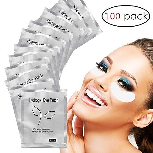 2ed9046a76c Adecco LLC Under Eye Gel Pads, 100 Pairs Set Eyelash Extension Pads, Lint  Free